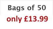 Bags of 50 - only £11.99